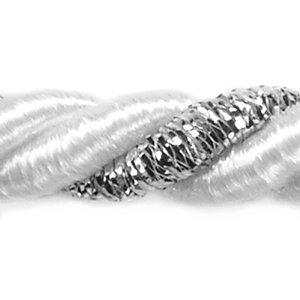 Kordel 7mm stark - 20m Rolle - Kordelschnur zweifarbig mit Gold- auch als Raffhalter für Gardinen (0,60 Eur/m)