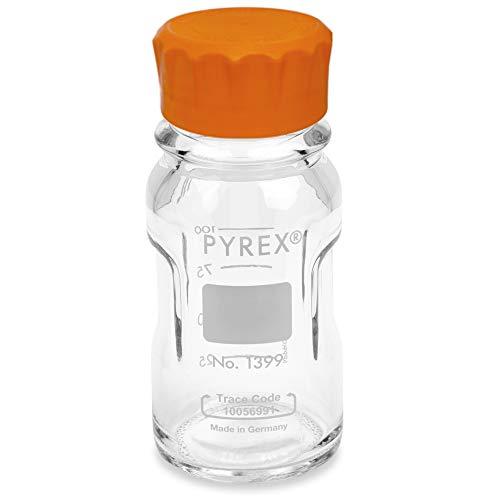 Pyrex 1399-1000CNEa-M Slim line Media Bottle Easy Pour Corning 1000ML, Glass
