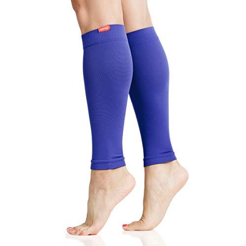 VIM & VIGR 15-20 mmHg Mangas de compresión graduadas para piernas para mujeres y hombres, 1, Azul Electric