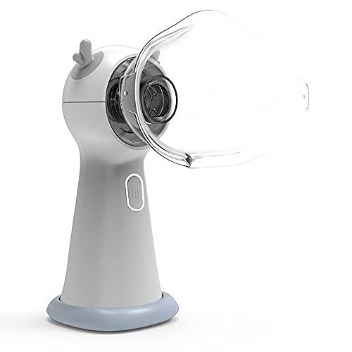 Dibujos Animados Para Niños Mini Silencioso Micro-net Atomizador Atomizador De Viaje Atomizador De Mano Portátil Batería Incorporada Micro-net Atomizador Grande Hogar Tipo Lindo (Color : White)