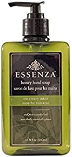 Essenza Luxury Hand Soap, Rosemary Mint, 16.9 fl oz (Pack of 2)