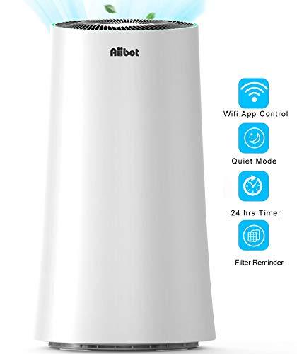 Aiibot Luftreiniger Raucherzimmer für Raucher mit HEPA&Aktivkohlefilter,Air Purifier mit Luftqualitätssensor,APP-Steuerung,Leise Schlafmodus Timer,Größe Räume bis zu 100m²,gegen Allergie Pollen Staub