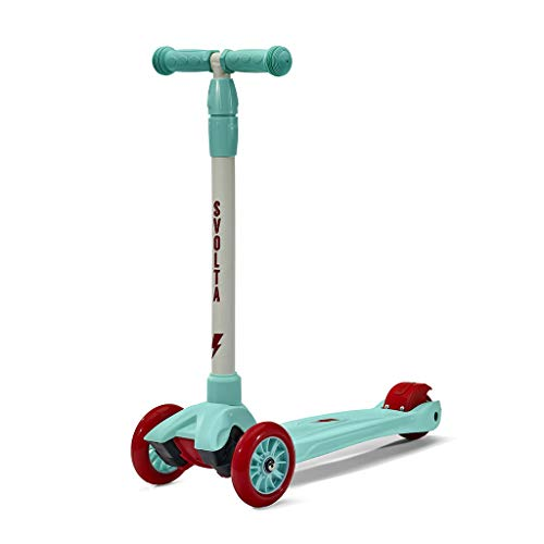 SVOLTA Mega 3-Wheel Scooter for Kids - Red and Aqua