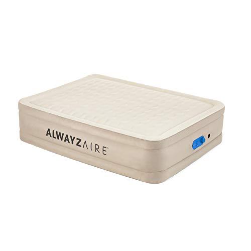 Bestway AlwayzAire Essential Luftbett 203x152x51 cm, Doppelbett selbstaufblasend mit eingebauter Elektropumpe, Luftmatratze gleicht Druckverlust aus