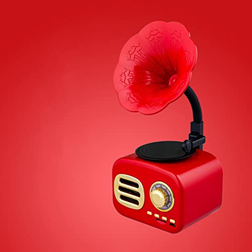 Altavoz Bluetooth Inalámbrico, Altavoz De Gramófono Portátil Retro Altavoz Estéreo De Estilo Madera Con Audio HD Y Graves Mejorados, Tarjeta De Interfaz USB Vintage Para Viajes, Oficina En Casa