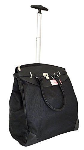 Trendy Flyer 19' Computer/Laptop Rolling Bag 2 Wheel Case (Black)