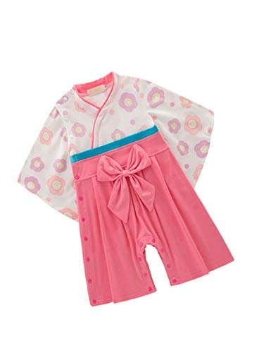 zhxinashu Infantil Mono Bebé Algodón Kimono - Las Niñas de Manga Larga Mameluco Chicos Estilo Japonés Ropa (Negro)