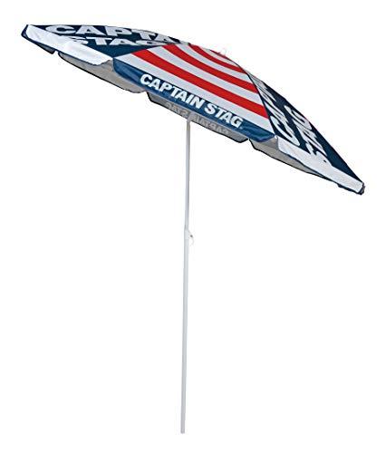 キャプテンスタッグ(CAPTAIN STAG) パラソル 傘 日傘 日除け UVカット 直径180×高さ200cm レッド アポロ UD-60