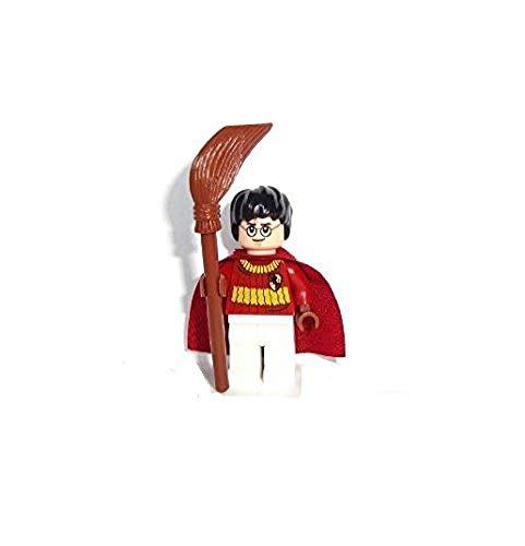 LEGO Harry Potter: Harry Potter (Quidditch Attrezzatura) Minifigura Con Manico Di Scopa