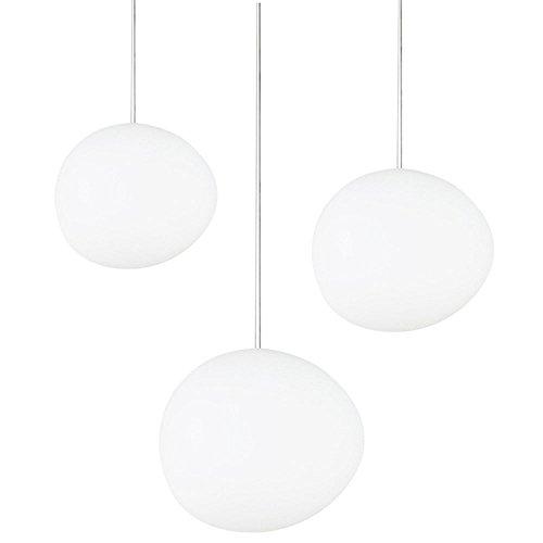 Pendentif lumière nouvelle mode Creative verre lustre personnalité espace haut de gamme restaurant Studio couloir,whitelight,15 * 13cm