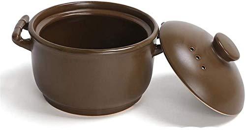 YAOSHUYANG Cazuela de Hierro Cazuela de cerámica sin engelación Tradicional, Olla de Arcilla de cocción Lenta de Calor, nottick Stockpot de Utensilios de Cocina Sombra Saludable B 1L