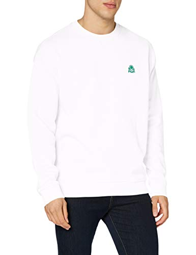 United Colors of Benetton (Z6ERJ) Maglia G/c M/l Sudadera Bebe, Bianco 101, XL para Hombre