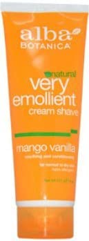 Unisex Alba Botanica Very Emollient Large Finally popular brand discharge sale - Cream Mango Shave Vanilla