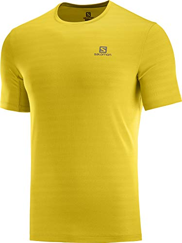 SALOMON XA Tee M Veste pour Homme M Citron Curry/chiné.