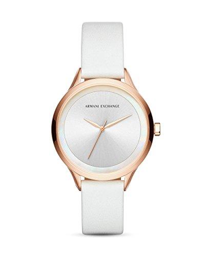 Emporio Armani Damen Analog Quarz Uhr mit Leder Armband AX5604