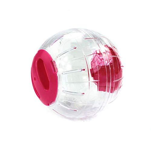 Pppby Bola Hamster Hamster Accesorios Mascotas Pequeñas Deportes Rueda Juguetes Plástico Claro Silencio Corriendo Rodillos para Animali Pequeños Hamster Gerbil Conejillo De Indias Azul Rosa