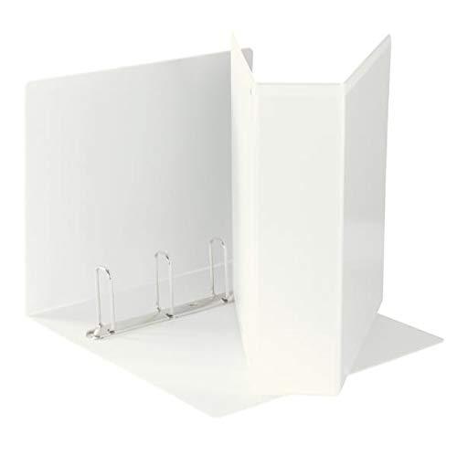 ESSELTE Raccoglitore Display in PP personalizzabile (2 tasche) ad anelli 4- 65 - Q - f.to maxi - Bianco - 394758000
