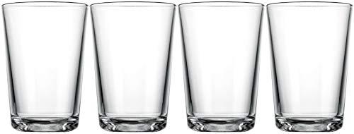 Juice Glasses 7 OZ. Drinking Glassware Set of 4 Glaver's Modern...
