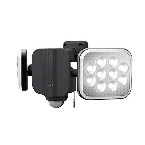 ムサシ(MUSASHI) センサーライト ブラック 本体サイズ: 幅 31.3 × 奥行 12.5 ×高さ 14.6 cm 14W×2灯フリーアーム式LEDセンサーライト LED-AC2028