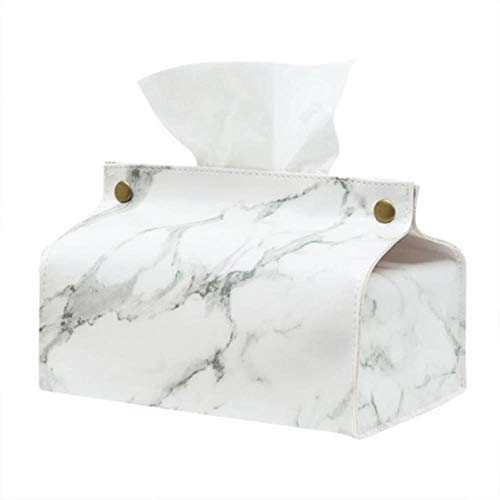 LinZX Gewebe-Kasten-Tuch-Serviette-Halter-Behälter Tissue Box Startseite Auto Serviette Papierbehälter Papiertuch-Serviette Wohnkultur,White