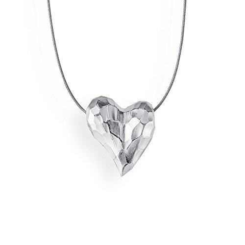 Drachenfels edler Herzanhänger aus der Kollektion Heartbreaker in Echtsilber | Anhänger Silber 925 Sterling | Eleganter Anhänger für Damen in Herzform