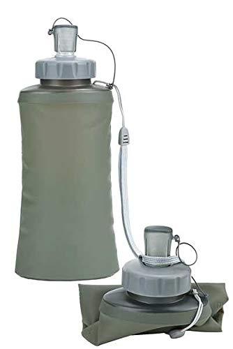 101 INC Bouteille d'eau pliable 600 ml, Olive