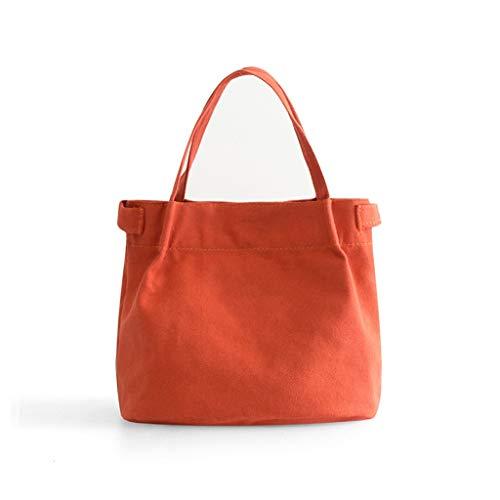 UCYG Frauen Kühltasche, Kleine wasserdichte Picknickkorb Tote, Erwachsene Kühlbox Für Picknick, Camping, Auto, 20x19x12cm, Pink (Farbe : Orange)