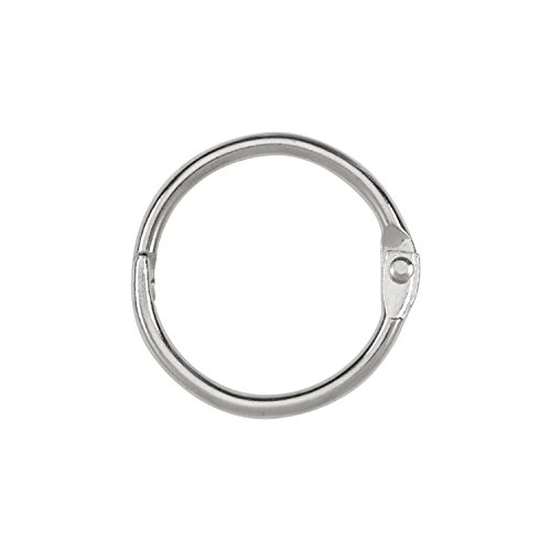 ACCO Loose Leaf Binder Rings, 1 Inch Capacity, Silver, 100 Rings / Box (72202)
