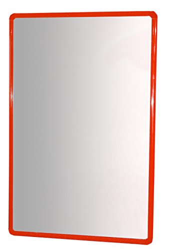 HenBea spiegel van plexiglas met rood frame, 100 x 65 cm (754/C1)