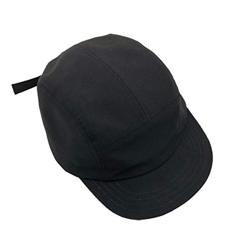 Croogo Flat Billed Men Women Cap Short Brim Anti Sweat Sunscreen Trucker Baseball Style Hat Outdoor Sun Cap Black