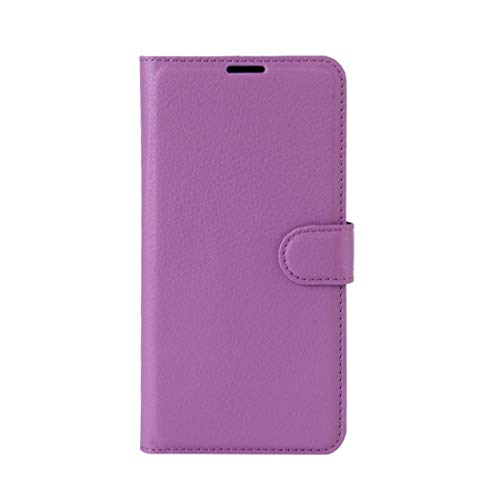 Phone case Lmy for Leagoo M8 Pro Litchi Texture Horizontal Flip Leather Case with Holder & Card Slots & Wallet (Black) (Color : Purple)