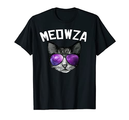 Meowza Cool Space cat con gafas de sol Camiseta