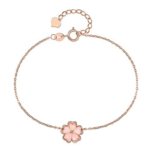 Oro Rosa De 18 Quilates Flores De Cerezo Pulseras Pulseras del Encanto De Moda Pulsera De Moda Fina Joyería para Mujer Regalo del Dia De La Madre