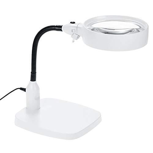 ZDXR Extra große LED mit Licht Handlupe Verstellbare Standlupe zum Lesen 10x 20x für Senioren Vergrößerungsglas für Bücher Zeitungen Landkarten Münzen Schmuck Und Hobbies