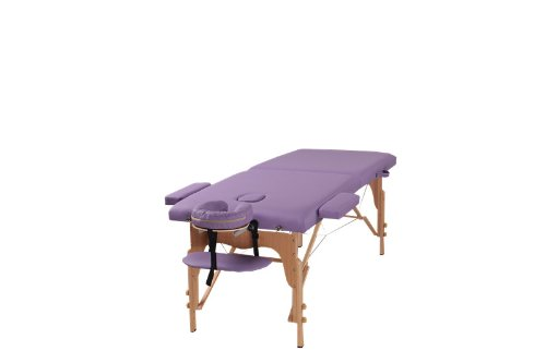 The Best Massage Two Fold Purple Portable Massage Table - PU Leather High Quality - by Heaven Massage