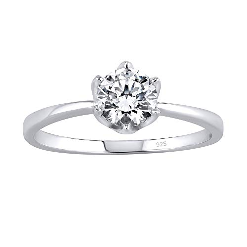 SILVEGO Verlobungsring aus 925 Sterling Silber PRINCESS mit Swarovski® Zirconia