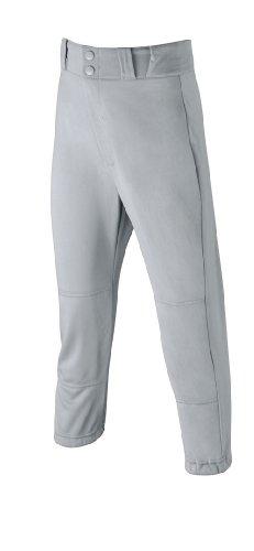 Wilson Youth Poly Warp Knit baseball Pant, grey, Medium