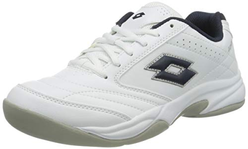 Lotto Herren Court Logo VIII SI Tennisschuhe, Weiß (White/D Core Blue 001), 43.5 EU