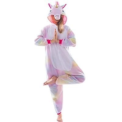 Spooktacular Creations Pijama de Unicornio Disfraces Mono para Adulto Mono (XL)