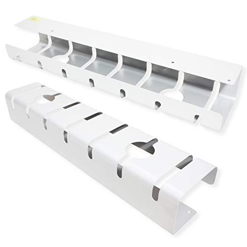 ROLINE Kabelkanal, Untertischmontage (2 Stück), weiß