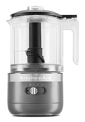 KitchenAid KFCB519DG Cordless Chopper, 5 cup, Matte Charcoal Grey