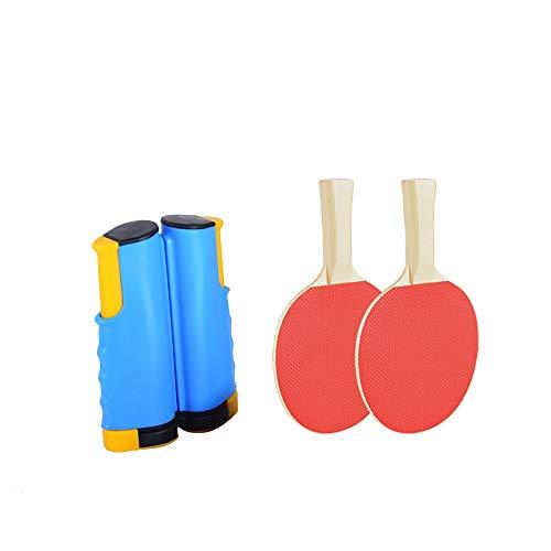 FYZS Tragbare Ping Pong Net-Rack Retractable Tischtennisnetz Rack-Ping-Pong-Zubehör Ping Pong Net-Rack mit 1Pair Tischtennis (Color : C)