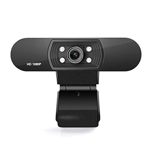 Humflour Webcam 1080P HD con microfono, USB Computer Web Camera Video Cam per lo streaming Gaming Conferenza Mac Windows PC Laptop Desktop Xbox Skype OBS Twitch YouTube