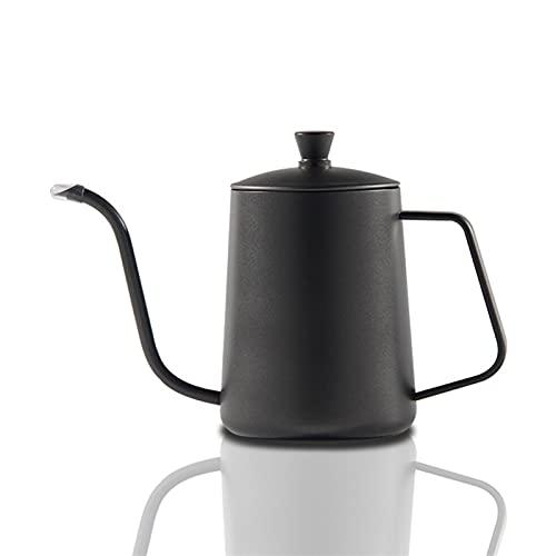 SQL Tetera de Goteo 350 ml 600 ml Tetera de café Antiadherente Recubrimiento Antideslizante Acero Inoxidable de Acero Inoxidable Cuello de Cisne de goteado de hervidor de Cisne Cuello Estrecho Boca