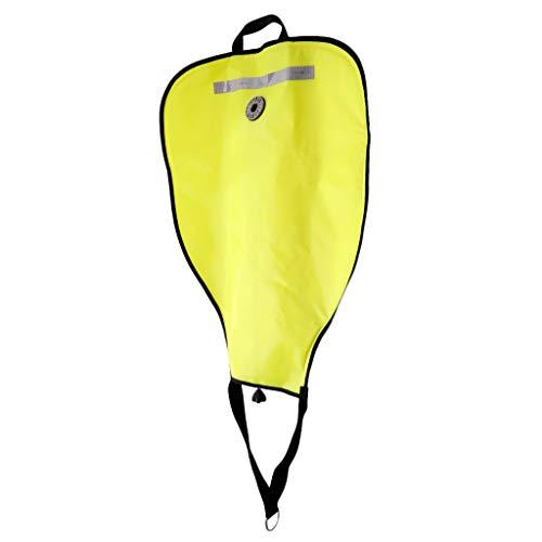 HSJWOSA Profesionalmente 2 Piezas de Salvamento Ascensor Scuba Diving Técnica 50 Libras Bolsa con la válvula de Descarga Amarillo Dramático (Color : Yellow)