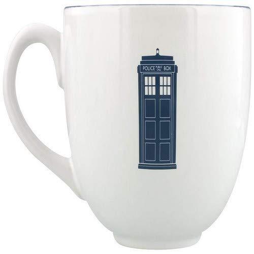 Doctor Who 3D Tasse Tardis - blau/weiß, Bedruckt, 100% Keramik, Fassungsvermögen ca. 425 ml.