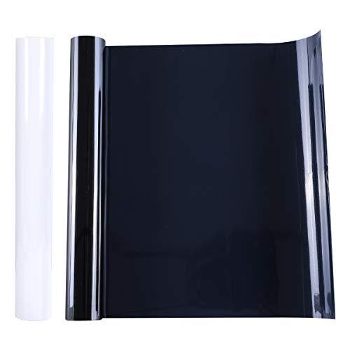 2 Rollo Vinilo de Transferencia de Calor de 12 Pulgadas x 5 pies Vinilo de Planchar Papel de Transferencia para DIY Camiseta, Ropa, Sombrero y Otro Textiles, Fácil de Cortar