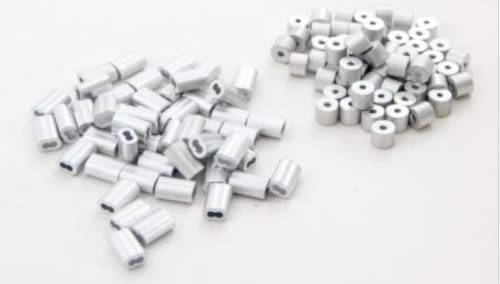 "Find Bargain 1000 pcs Sleeve Ferrules 1/16"" and Stops 1/16"" Aluminum Cable Snare Trap Trapping"