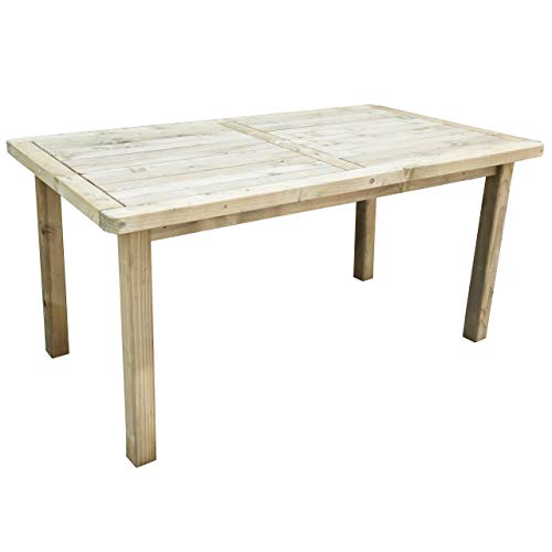 Forest Garden Forest Rosedene Table, Pressure Treated, 1.6 m