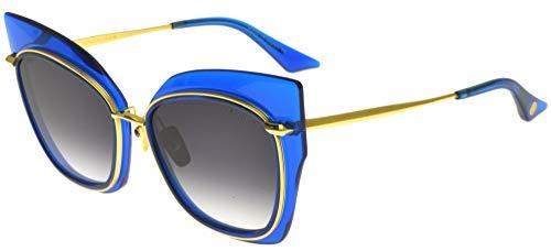 DITA Gafas de Sol STORMY Electric Blue K Gold/Dark Grey Shaded 58/19/147 mujer